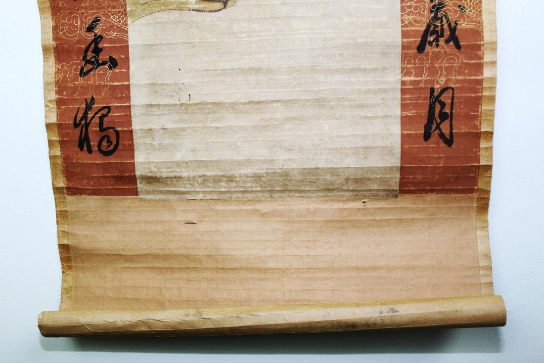 Antique Chinese Scroll Painting and Handwriting - 6
