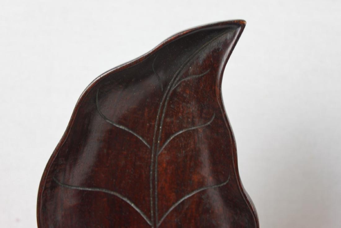 Hardwood Leaf Shape Plates - 3