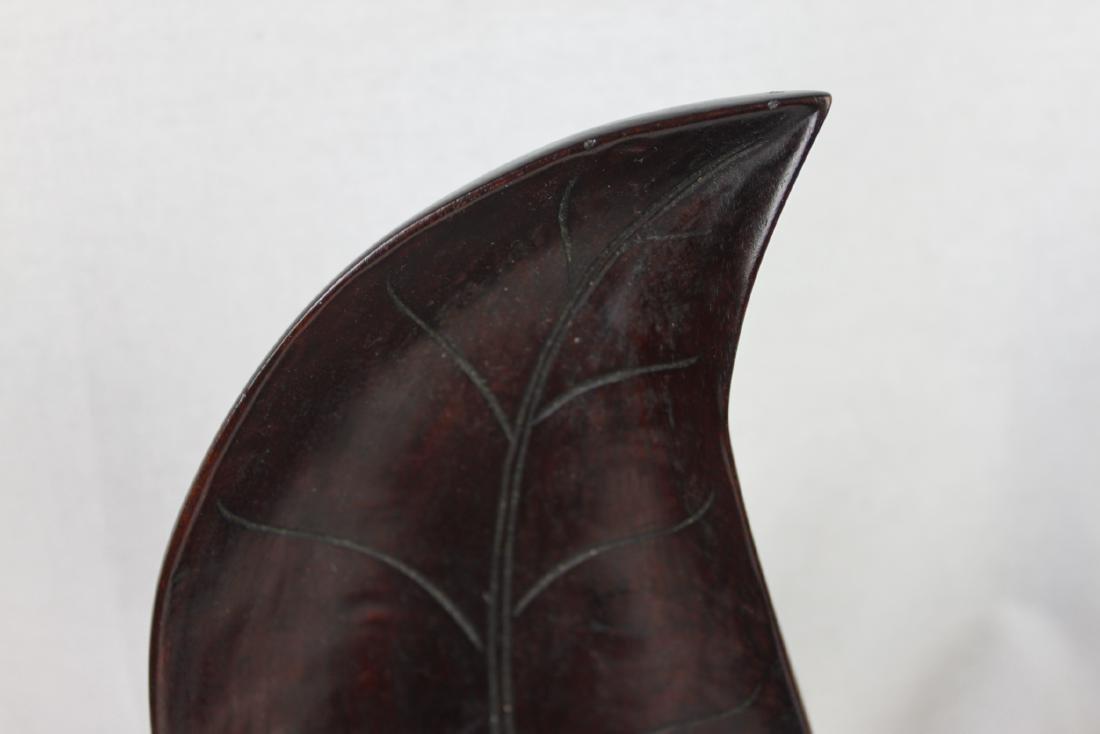 Hardwood Leaf Shape Plates - 7