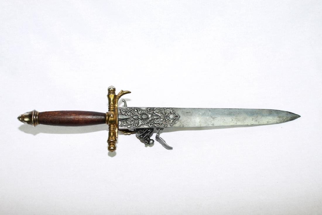 Antique Sword with Pop-gun Attached - 2