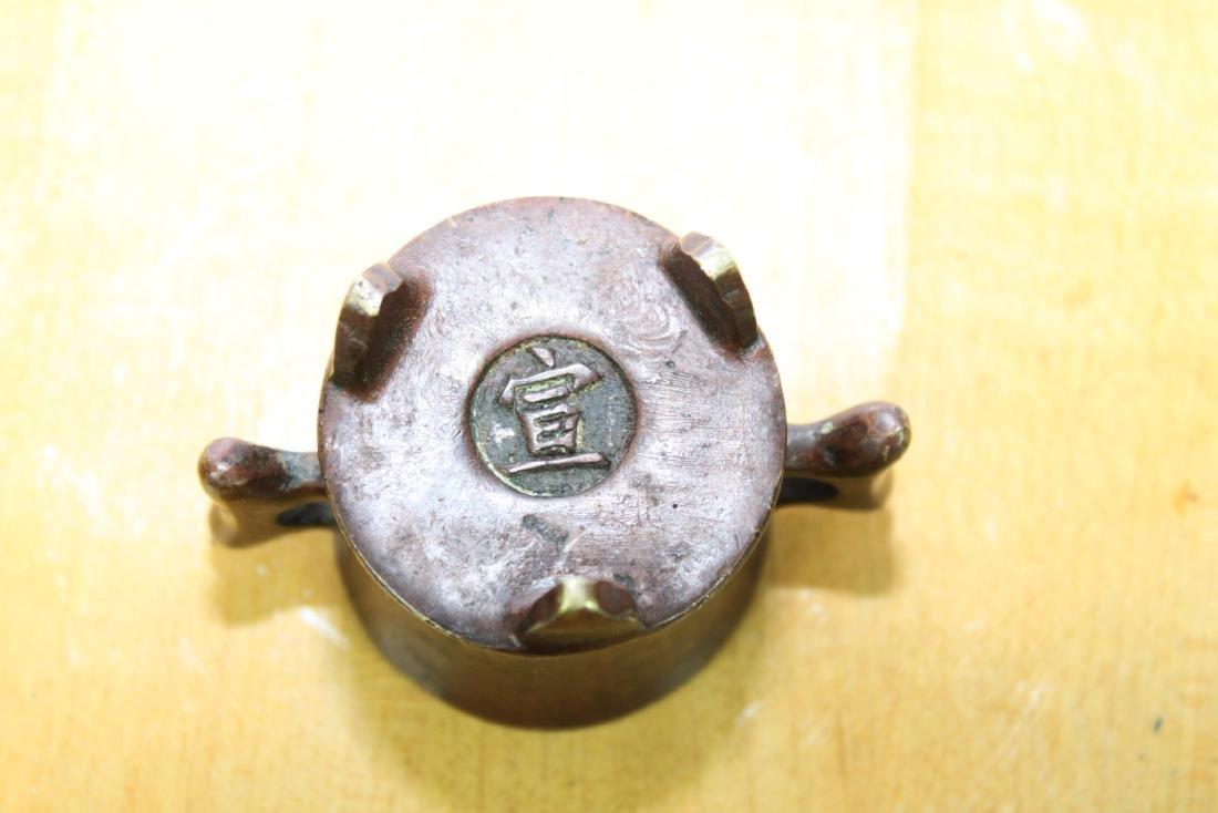 Three Antique Chinese Bronze Incense Burners - 10