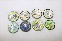 Eight of Chinese Mini Enamel Dish
