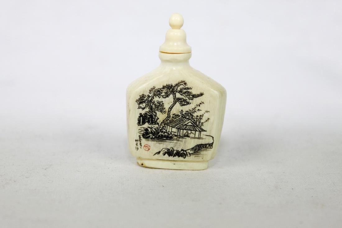 White Snuff Bottle - 2