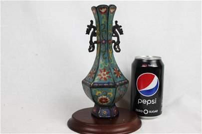 Antique Chinese Cloisonne Bronze Vase