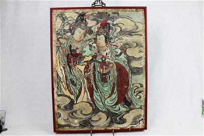 Chinese Antique Wood Panel Painting