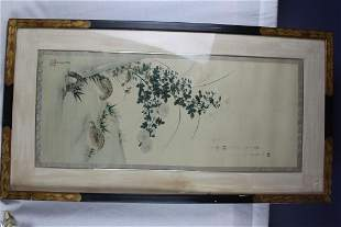 Chinese Painting in Glass Frame