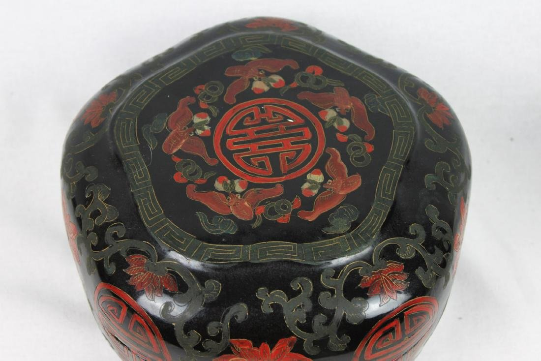 Antique Chinese Wood Jewlery Box - 3