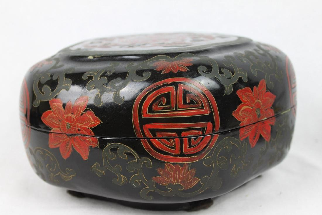 Antique Chinese Wood Jewlery Box - 7