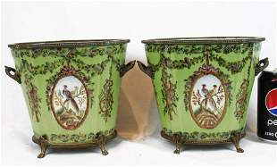 Two Antique Chinese Export Porcelain Buckets