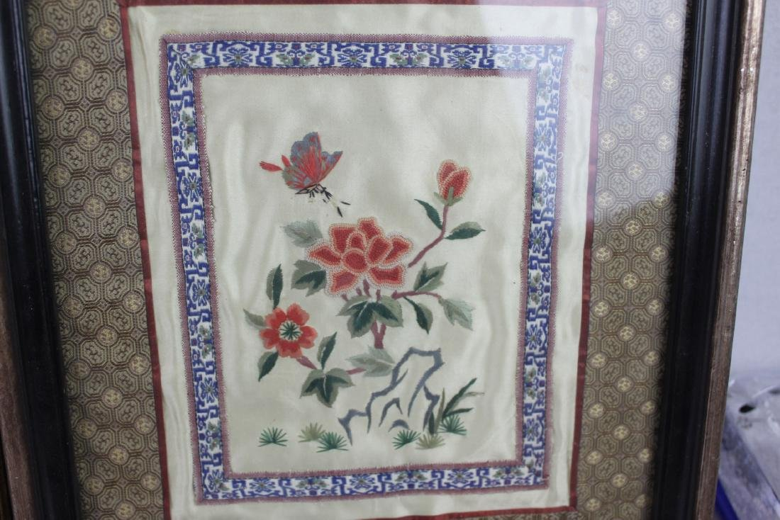 Three Hand Made Chinese Silk Painting - 7