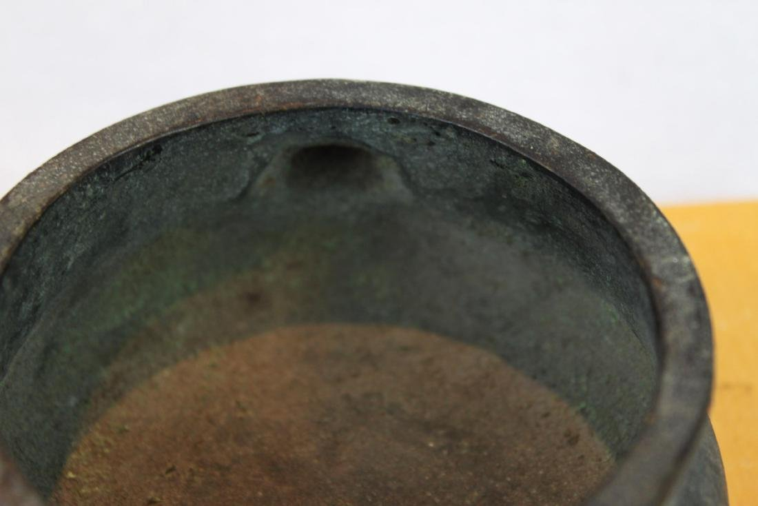 Antique Chinese Bronze Incense Burner - 6