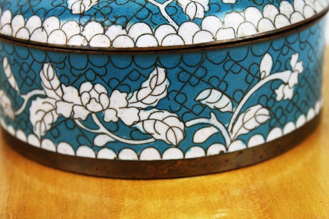 Antique Chinese Cloisonne Box - 4