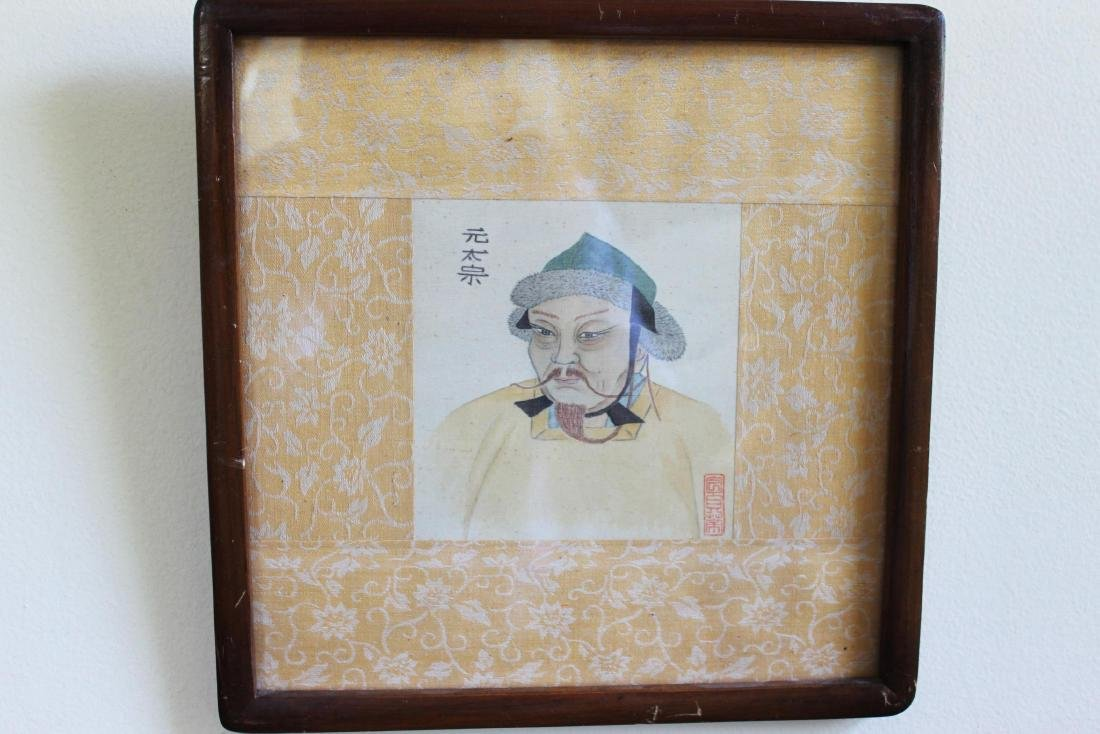 Antique Chinese Linen Painting