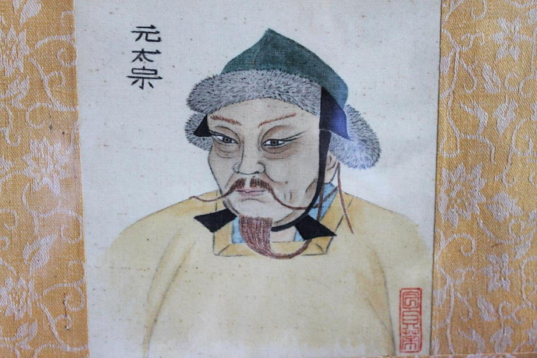 Antique Chinese Linen Painting - 2
