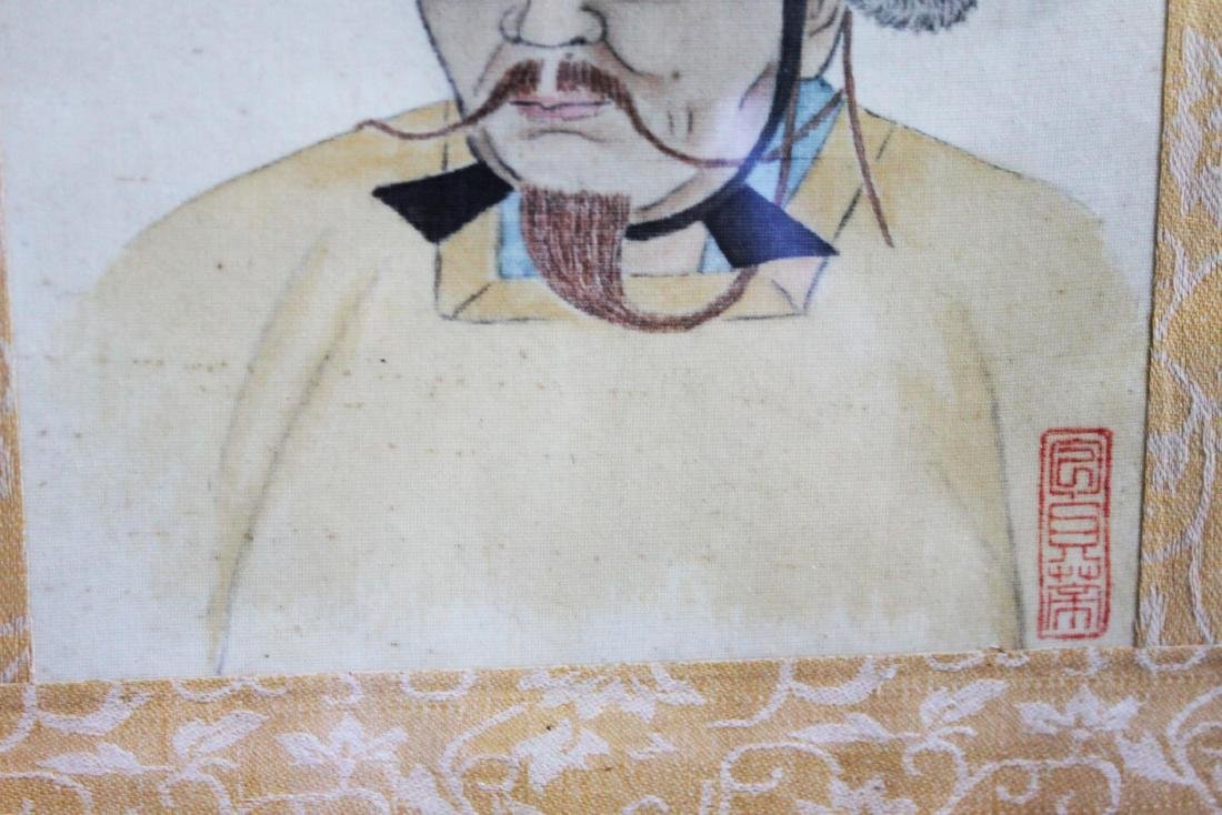 Antique Chinese Linen Painting - 5