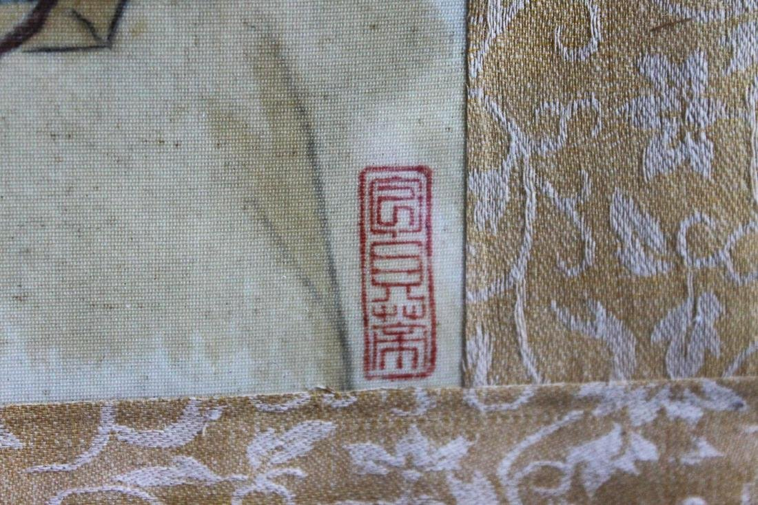 Antique Chinese Linen Painting - 6