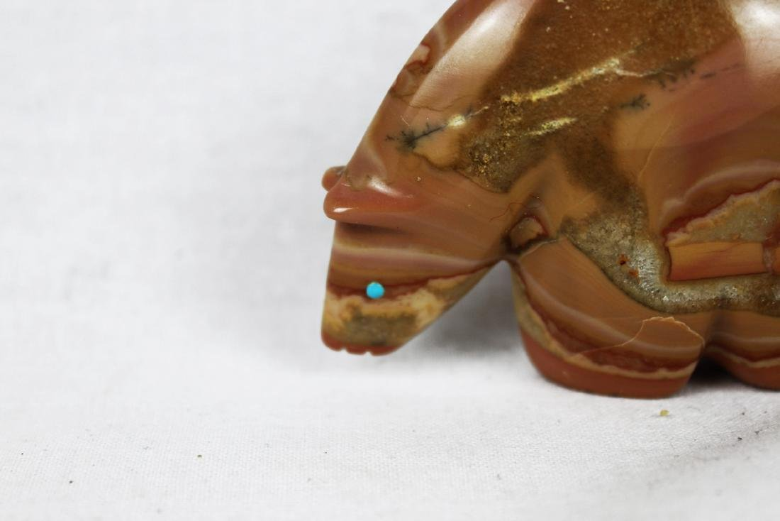Hand Carved Little Bear Stone Figure-Fitz Kiyite - 2