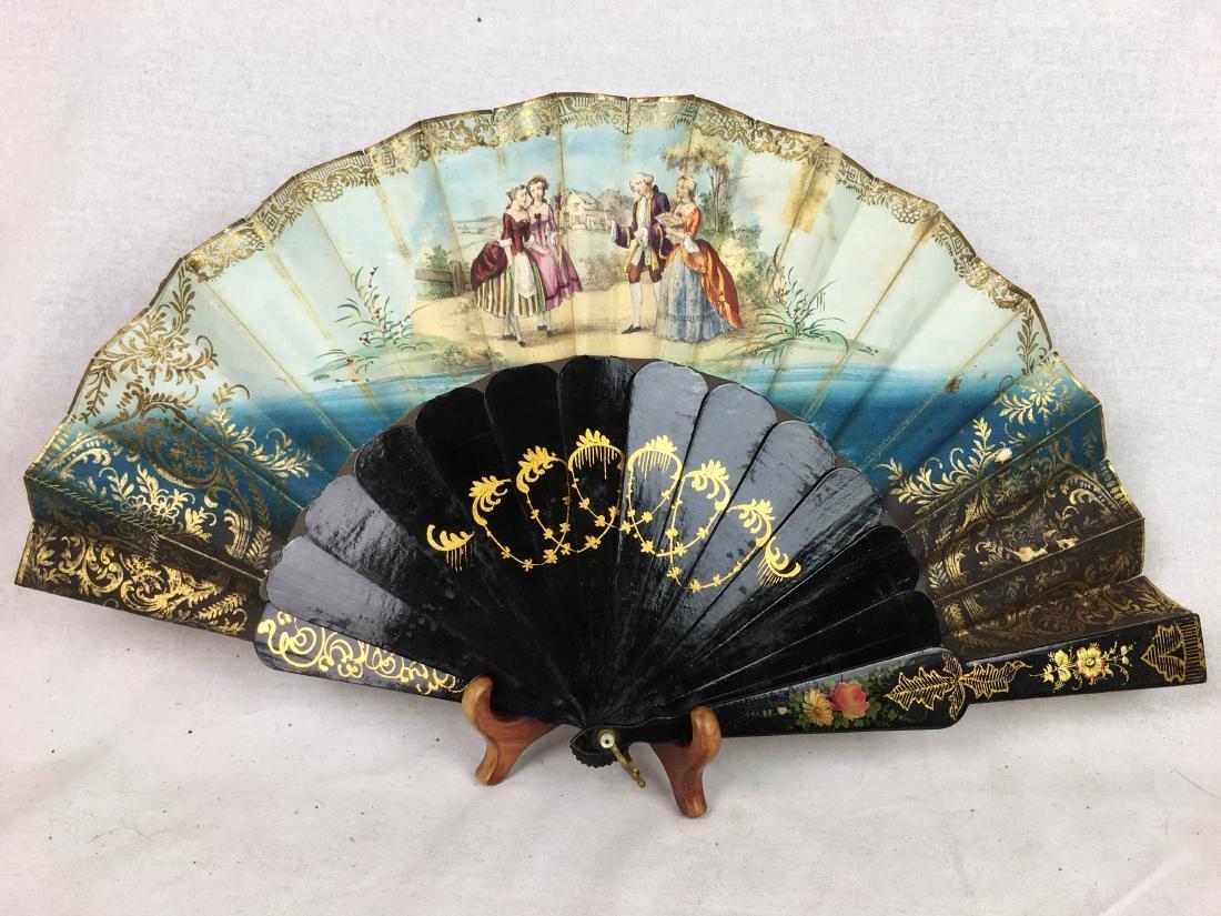 Antique Folding Fan - 8