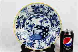 Antique Chinese BlueWhite Porcelain Plate