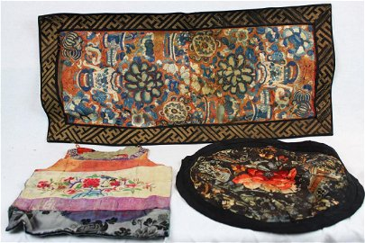 Three Pieces Chinese Silks