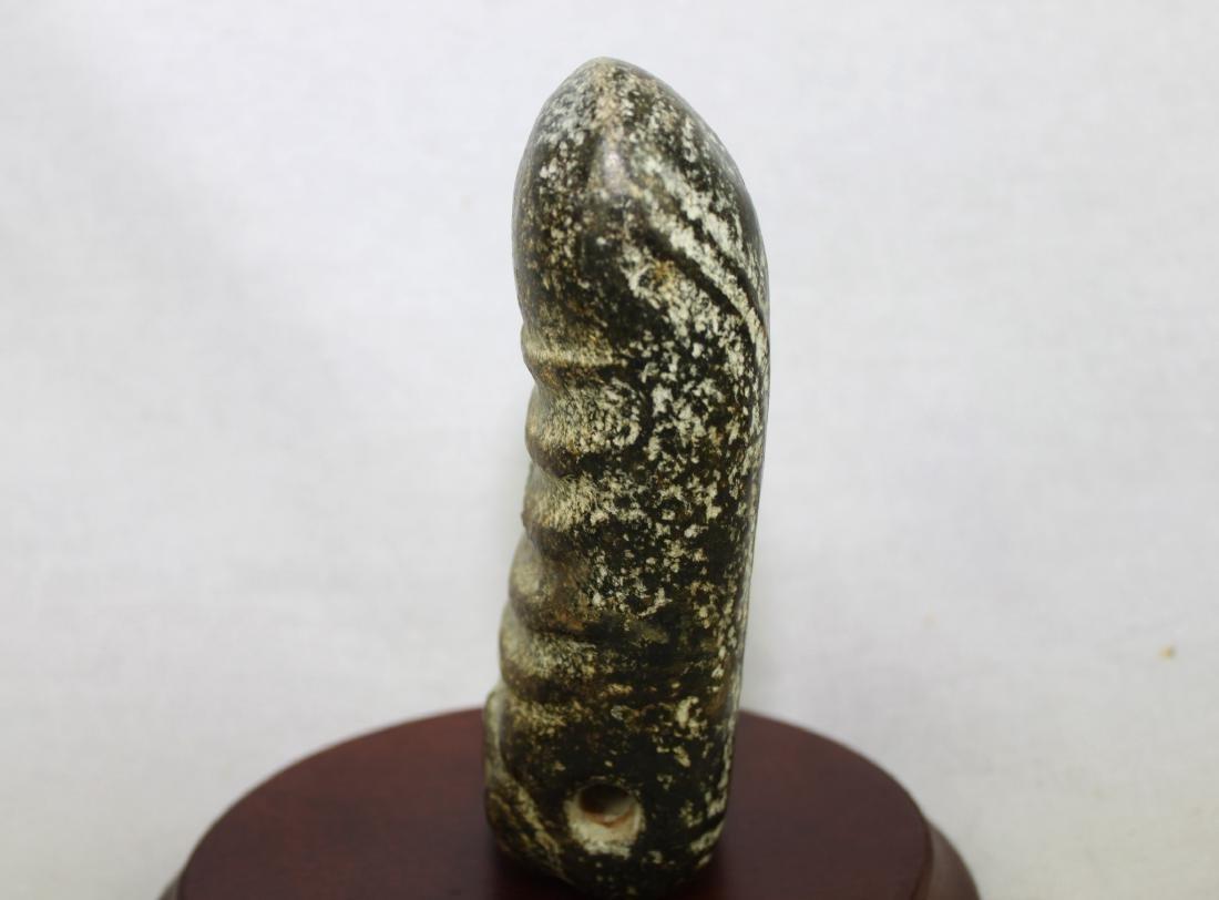 Antique Hand Carved Stone Dildo - 6