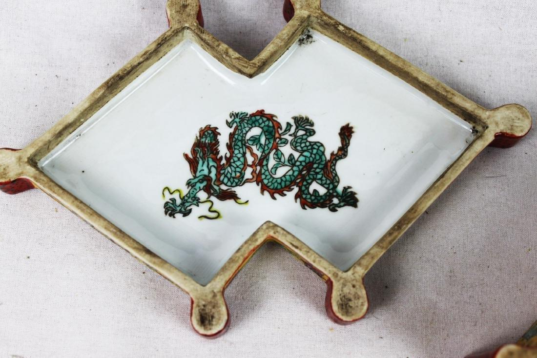 Antique Diamond Shape Porcelain Box - 4