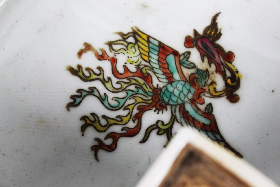 Antique Diamond Shape Porcelain Box - 5