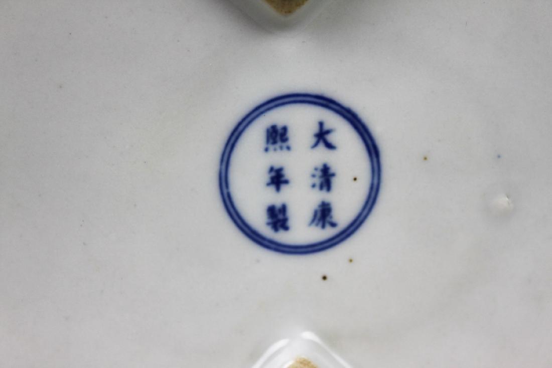 Antique Diamond Shape Porcelain Box - 9