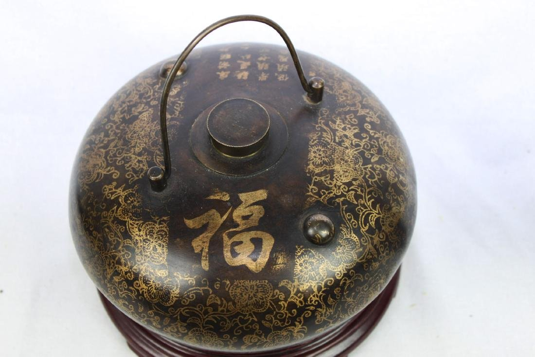 Antique Chinese Bronze Hot Warmer Pot - 3