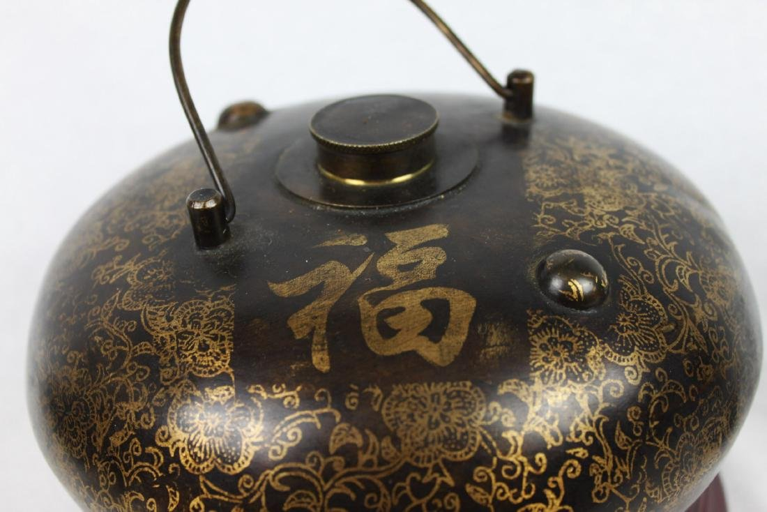 Antique Chinese Bronze Hot Warmer Pot - 4