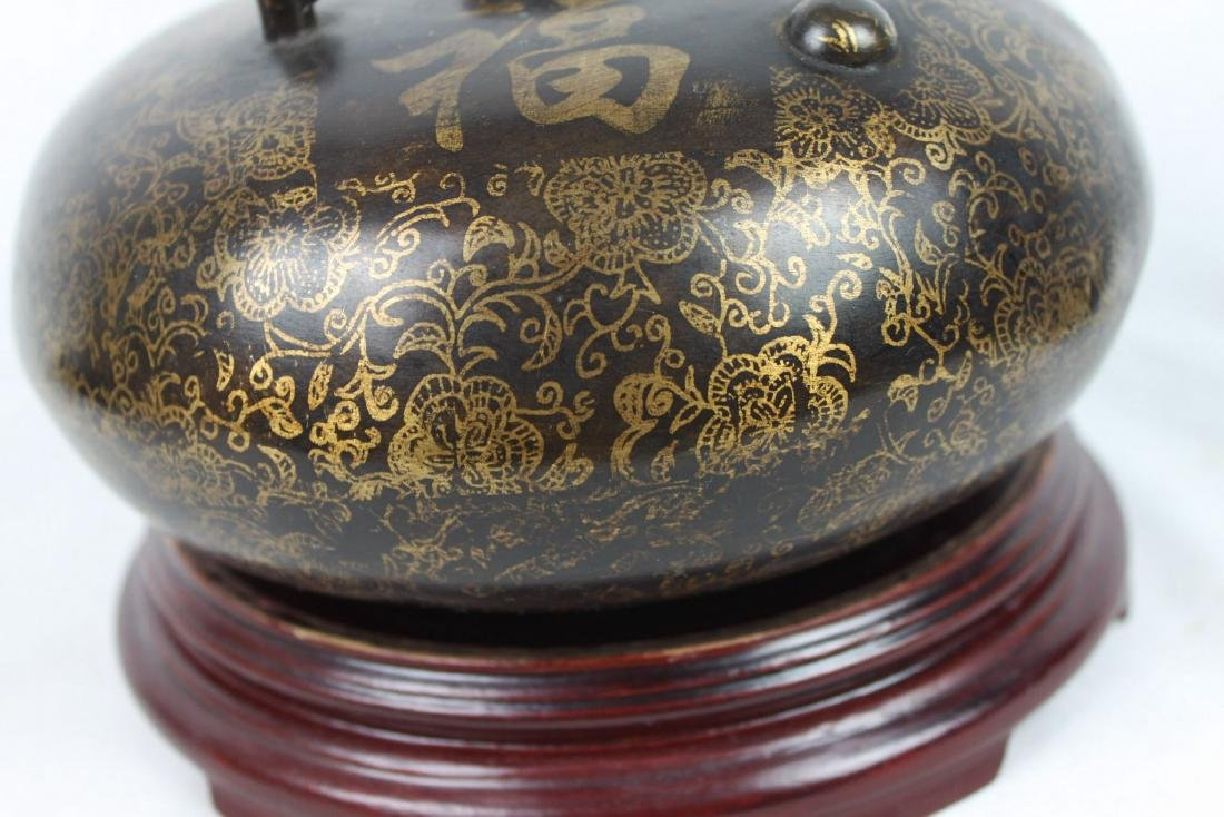 Antique Chinese Bronze Hot Warmer Pot - 5