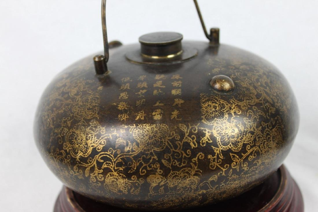 Antique Chinese Bronze Hot Warmer Pot - 6