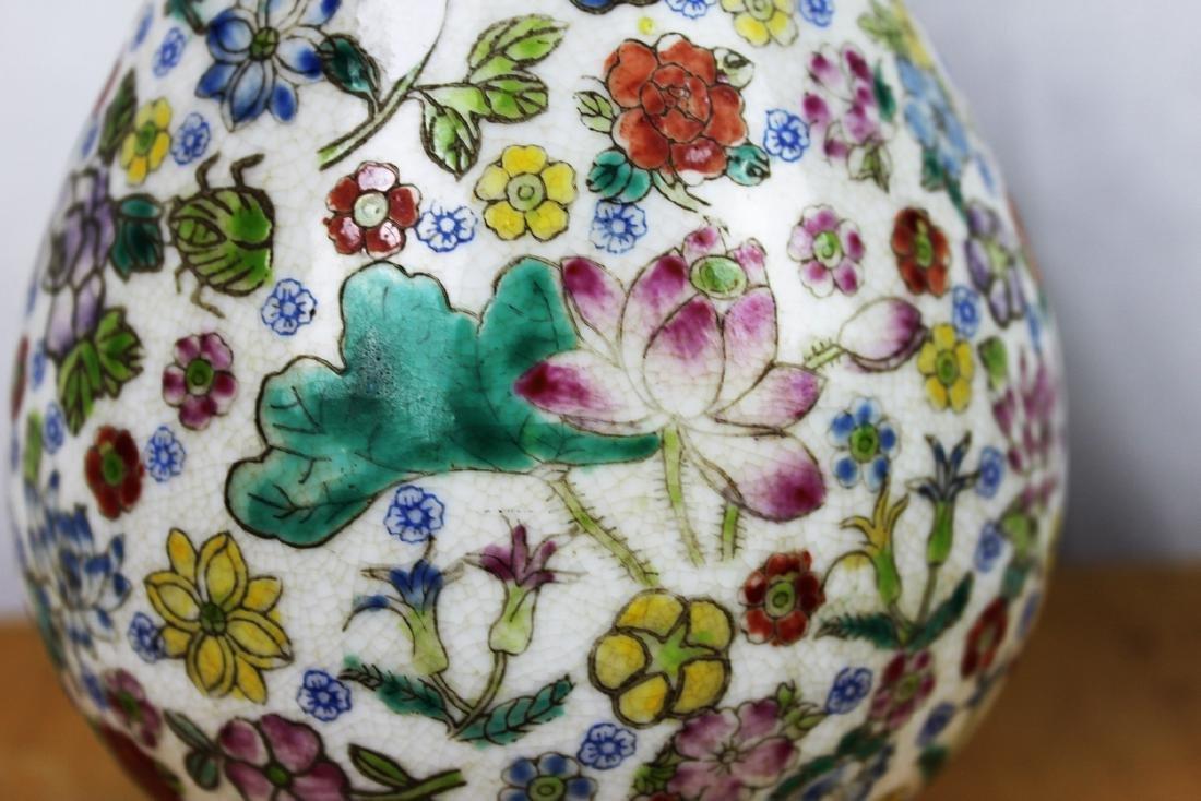 A Pair Famillie Rose Porcelain Vase - 3