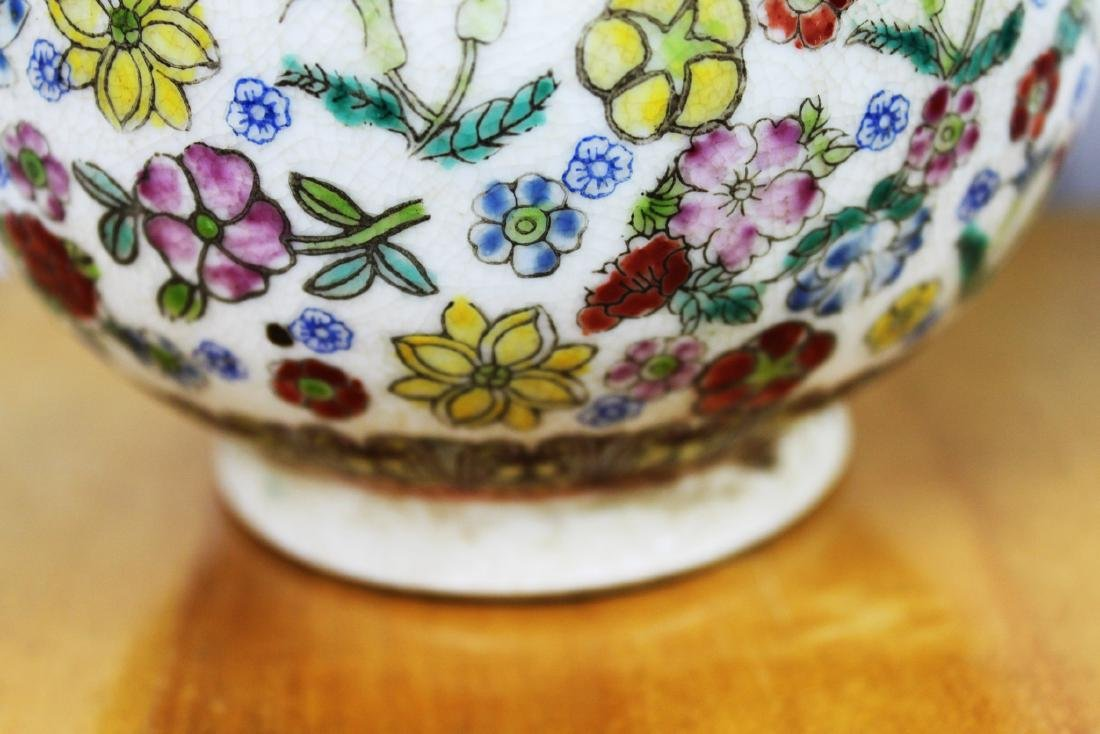 A Pair Famillie Rose Porcelain Vase - 4