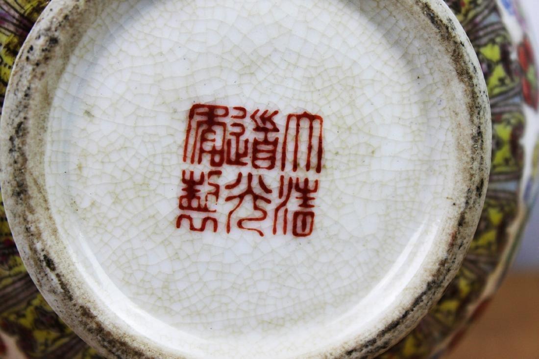 A Pair Famillie Rose Porcelain Vase - 8