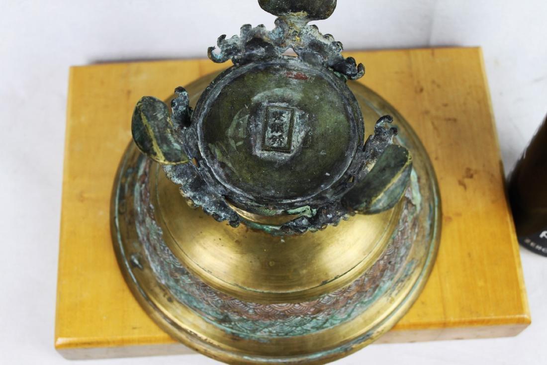 Japanese Bronze Stand - 5