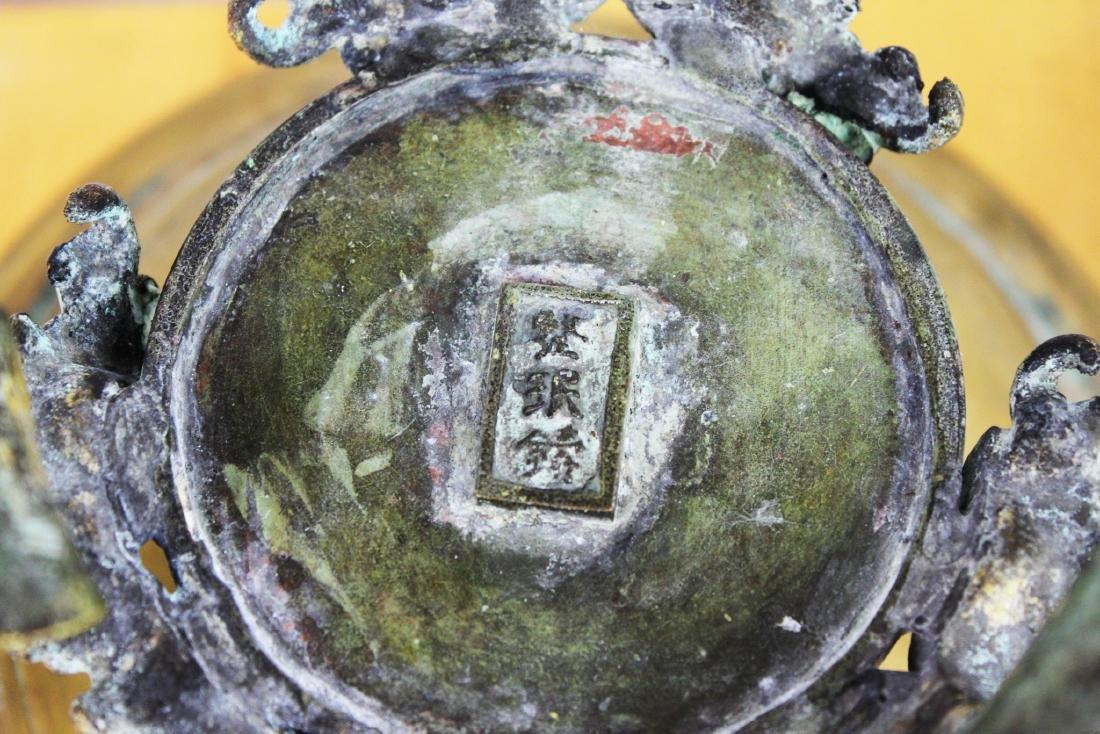 Japanese Bronze Stand - 6