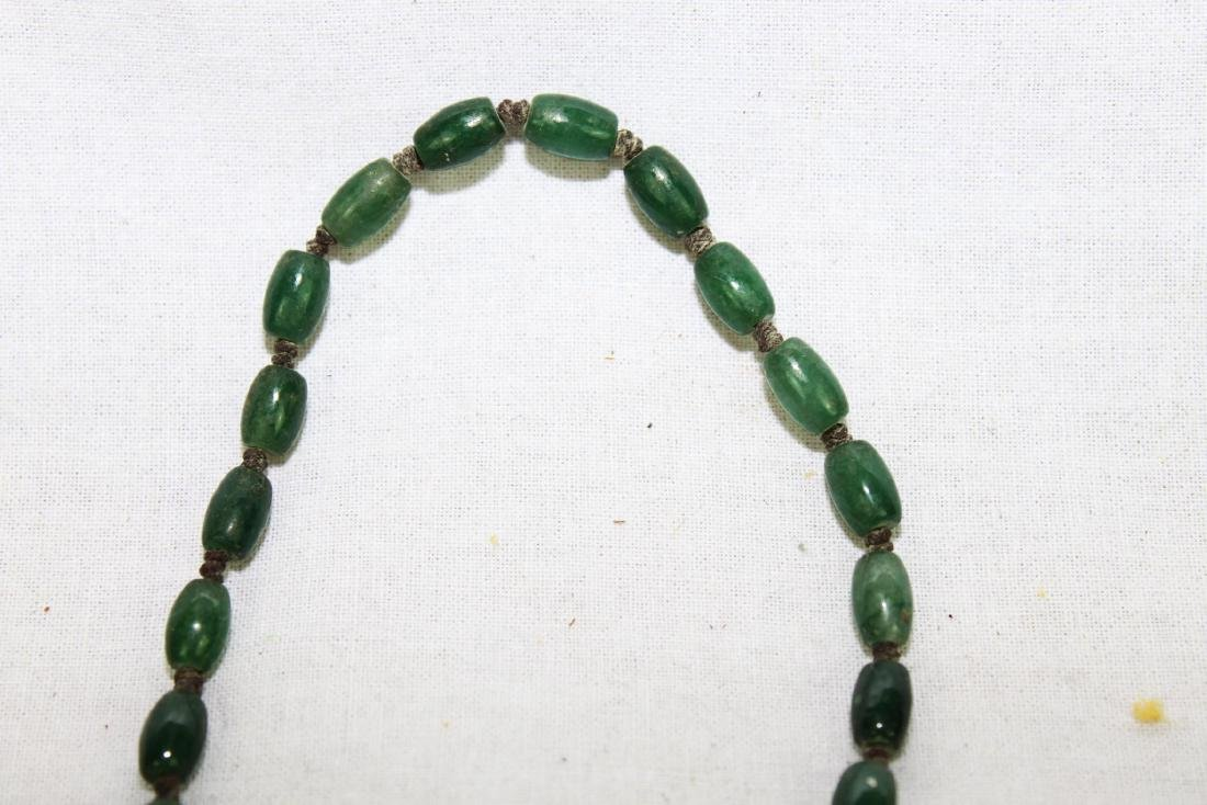 Green Jade Necklace with Gilded Gold - 3