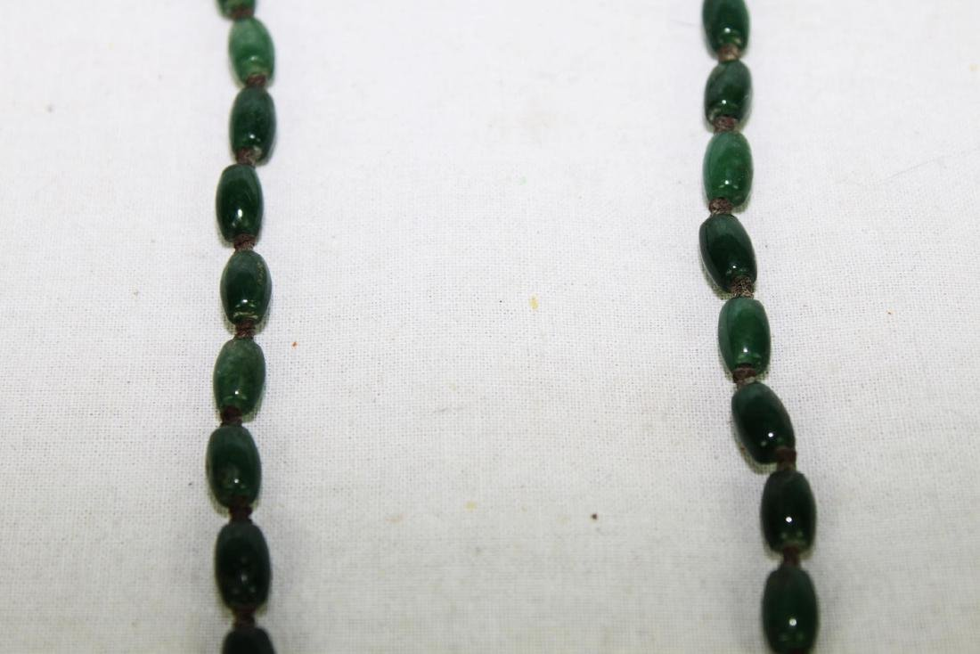 Green Jade Necklace with Gilded Gold - 4