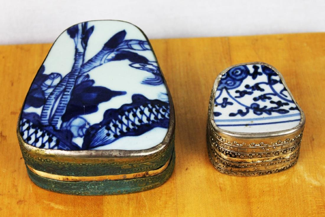Two Chinese Antique Porcelain Boxes