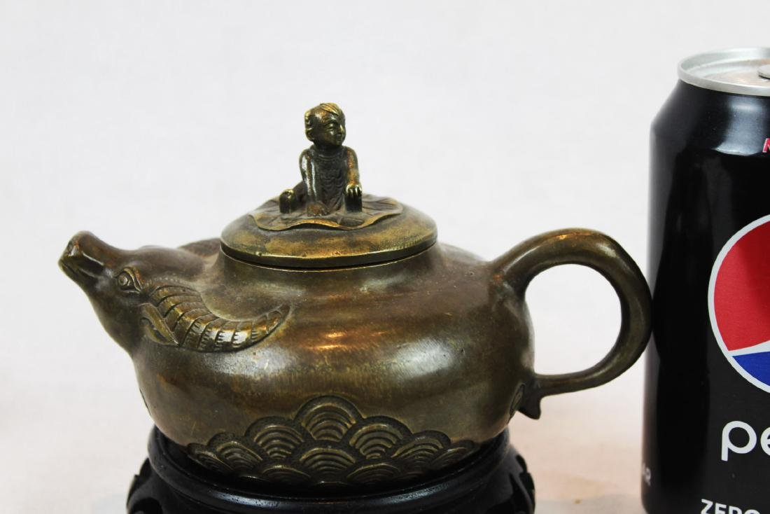 Antique Bronze Little Cowboy Tea-Pot
