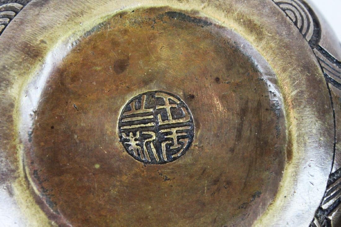 Antique Bronze Little Cowboy Tea-Pot - 8