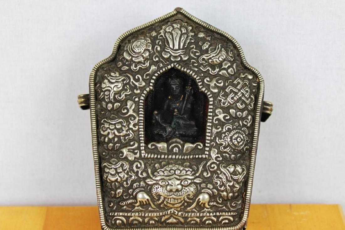 Antique Tibetan Statue in Bronze Box - 6