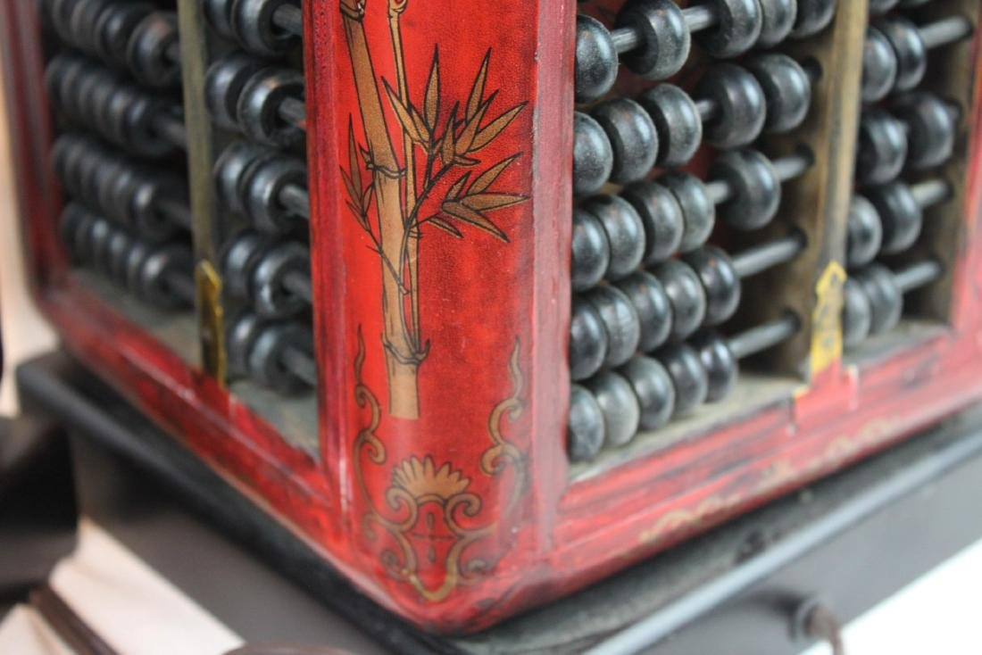 A Pair of Antique Abacus Lamp - 10