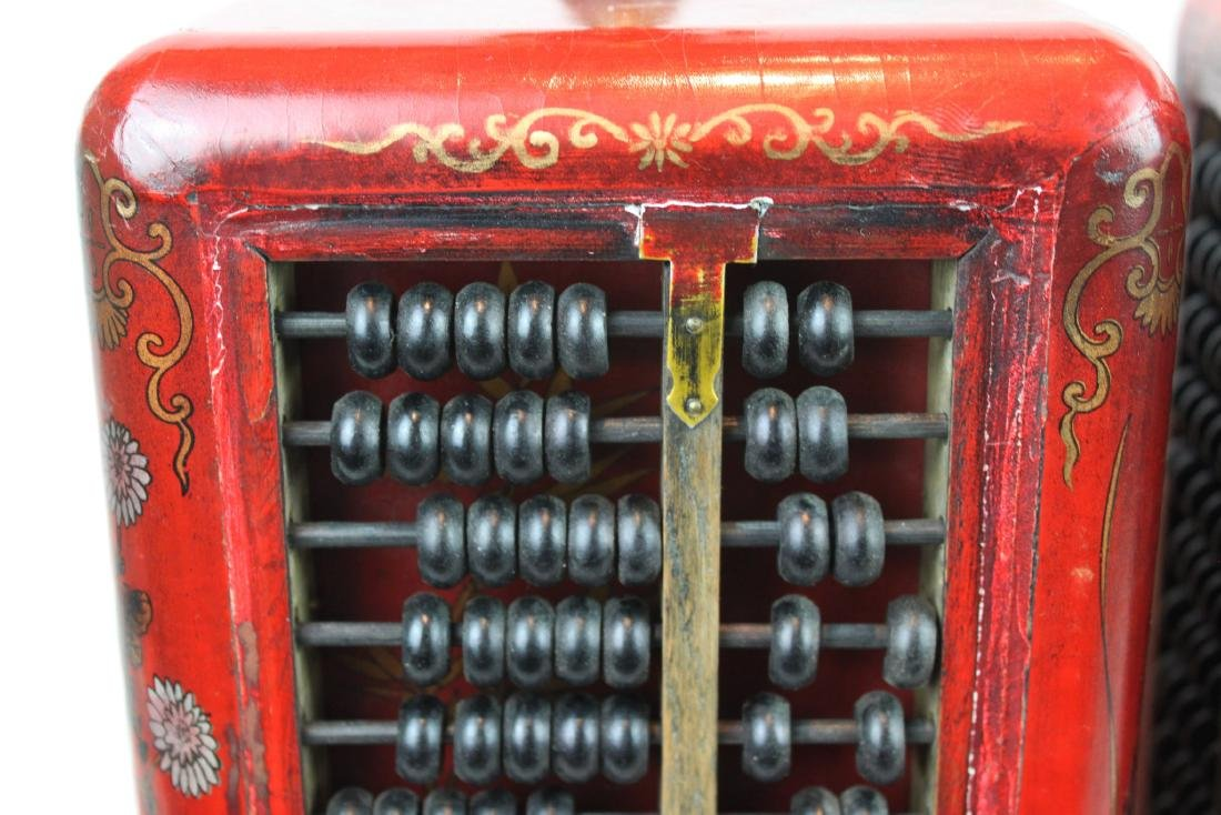 A Pair of Antique Abacus Lamp - 3