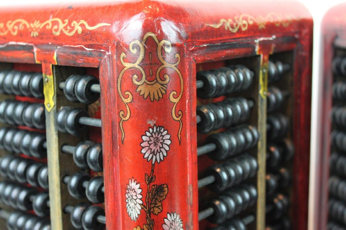 A Pair of Antique Abacus Lamp - 6