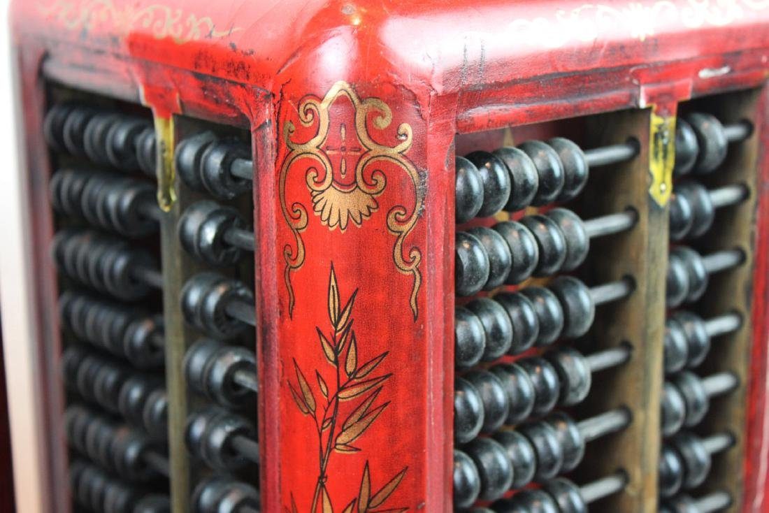 A Pair of Antique Abacus Lamp - 8