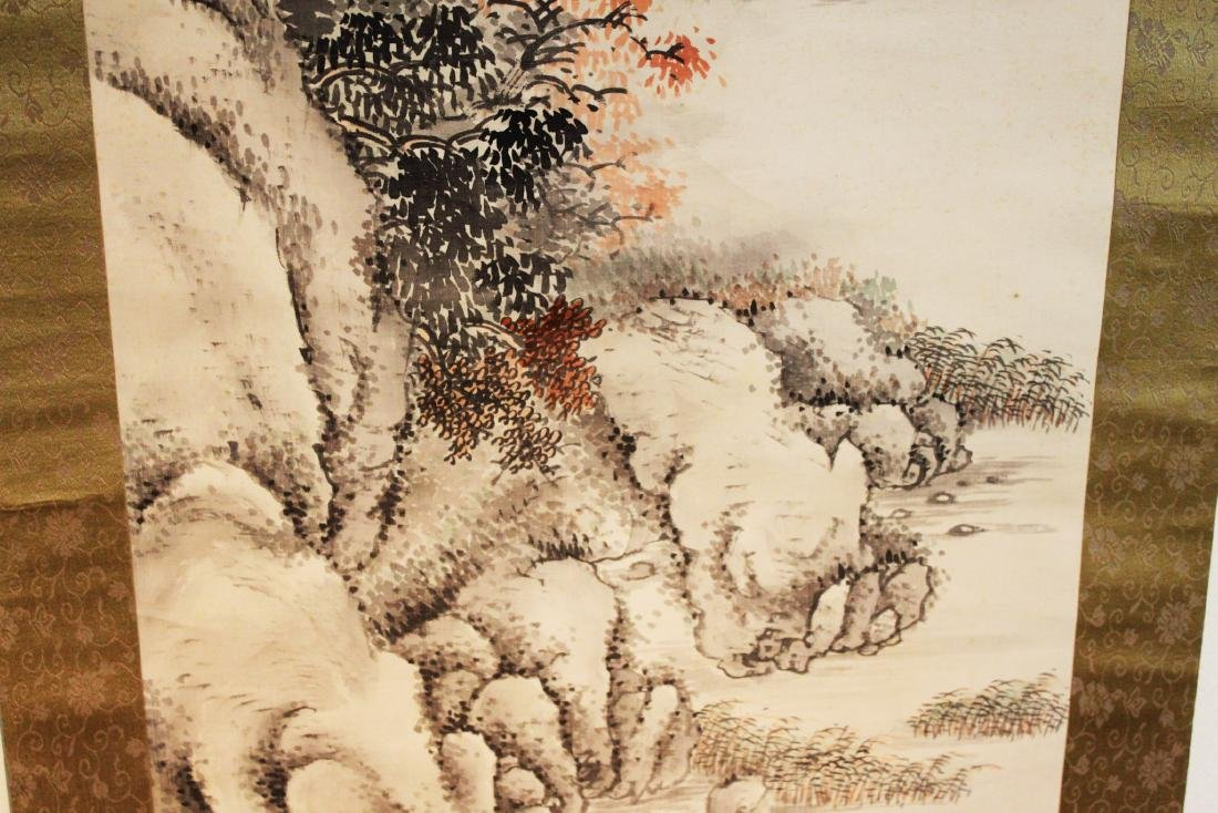 Antique Chinese Brush Scroll Painting - 8