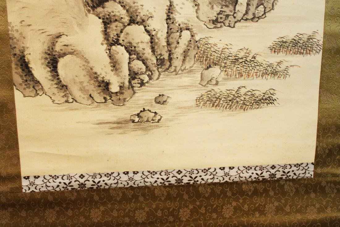 Antique Chinese Brush Scroll Painting - 9