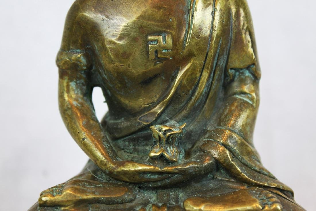 Antique Bronze Buddha Statue - 3